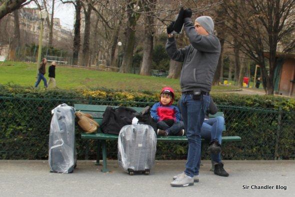 Momentos de tensión en París para este bloguero