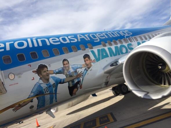 Aerolíneas agrega vuelos a San Pablo por el partido