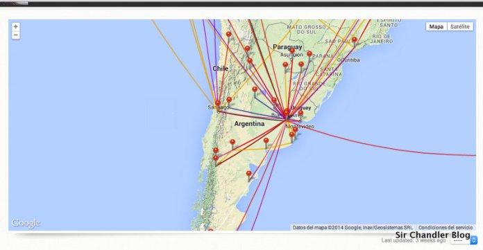 La web para anotar todos los vuelos realizados
