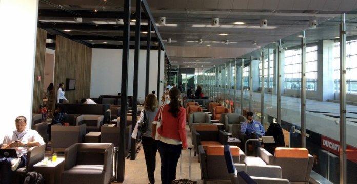 El salón VIP en San Pablo de LAN y TAM