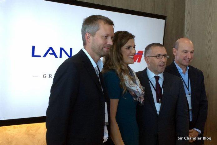 Charlando con los dueños y directivos de LAN y TAM