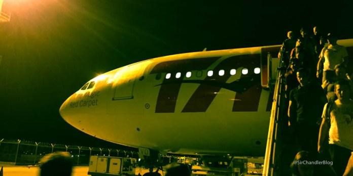 Volando a San Pablo en Airbus 330 de TAM