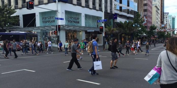 El cruce de calles loco de Auckland
