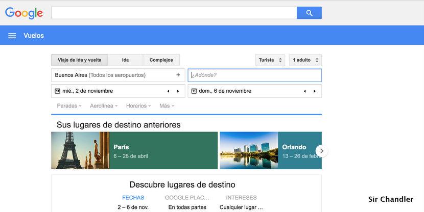 Google Flights como reemplazo de On the fly