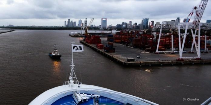 Saliendo de Buenos Aires en el crucero de Princess