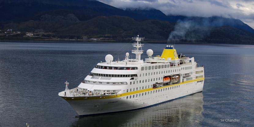 El crucero que motivó que Lufthansa volara a Ushuaia