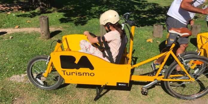 Tour familiar en bicis cargo por Palermo