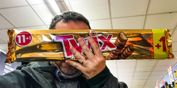 Recorriendo un supermercado Lidl en Alemania