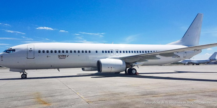El primer Boeing 737 de Andes en camino