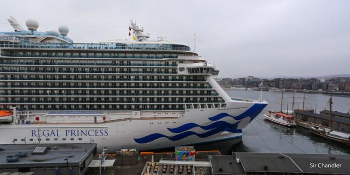 Embarcando en Copenhague en el crucero de Princess
