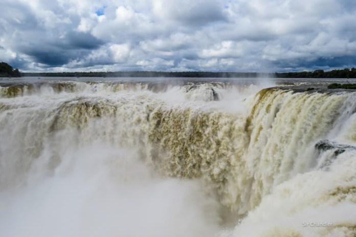Las ahora tristes cataratas del Iguazú