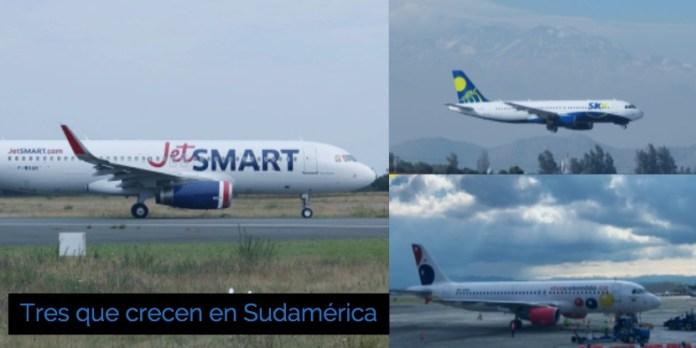 Tres aerolíneas que crecen en Sudamérica y que tarde o temprano alguna entrará acá