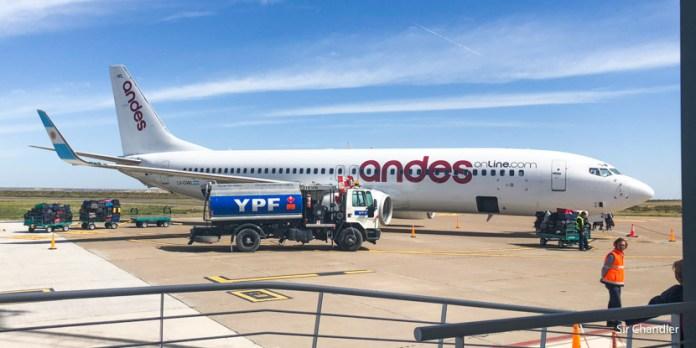 Volando a Puerto Madryn con Andes (ida y vuelta)