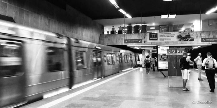 Viajando en el subterráneo de Río de Janeiro
