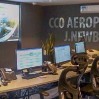 El centro de control de operaciones de Aeroparque