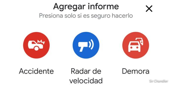 Google maps toma algo bueno de Waze: ahora permite reportar incidentes
