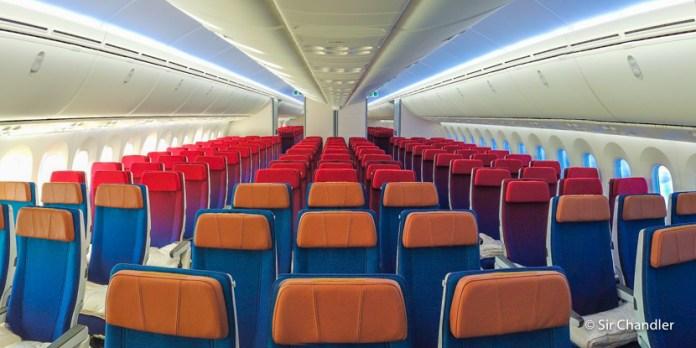 El nuevo interior de los aviones de Latam en su último Boeing 787