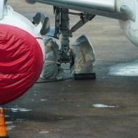 Postales de un Aeroparque casi sin movimiento