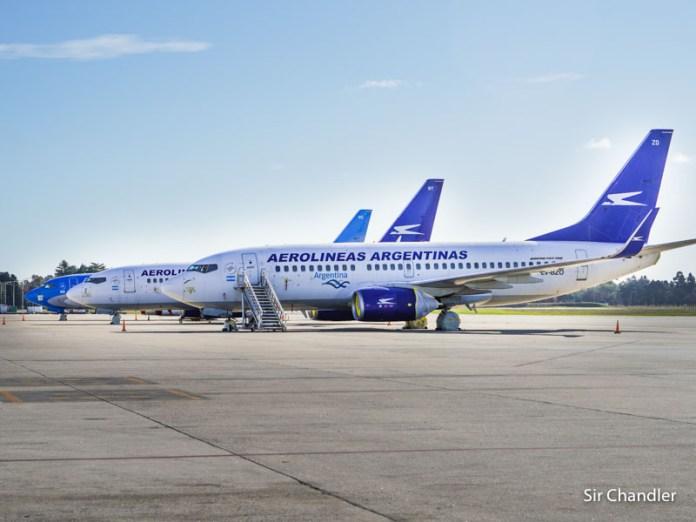 Una posible programación de vuelos de cabotaje de Aerolíneas Argentinas
