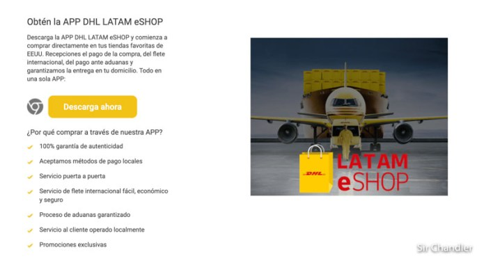 El nuevo portal de DHL para las compras por internet en Estados Unidos