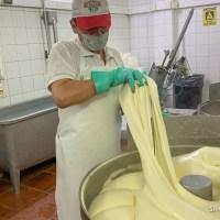 Visita a una fábrica de muzzarella de San Vicente