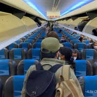 ¿Cuantos pasajeros hubo en los primeros vuelos de cabotaje hacia Buenos Aires?