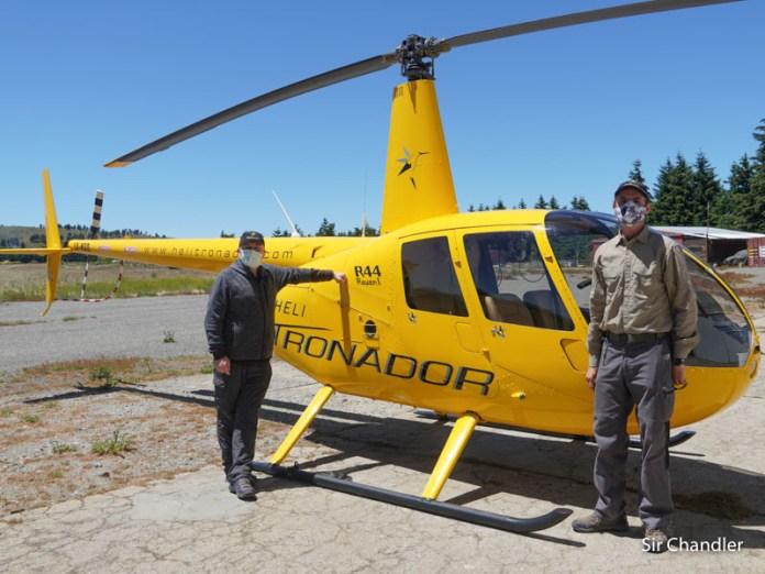 Volar en helicóptero sobre Bariloche