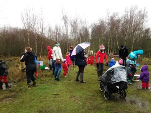 The puddle splash at Whisby Nature Park