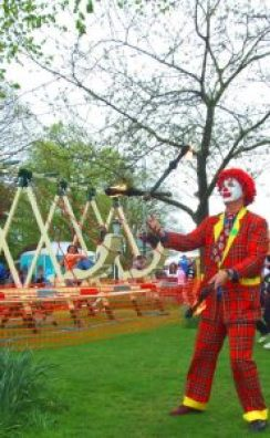 Pedro the Clown showing off his skills across Lincolnshire. Photo: Pedro the Clown