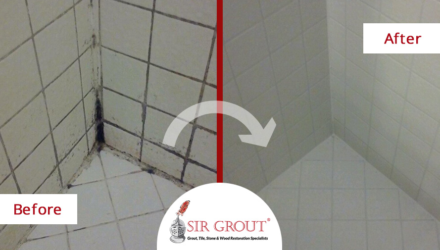 see how a tile grout cleaning and
