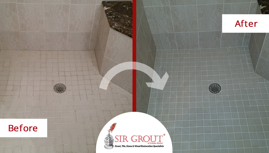 epoxy color seal makes a shower in