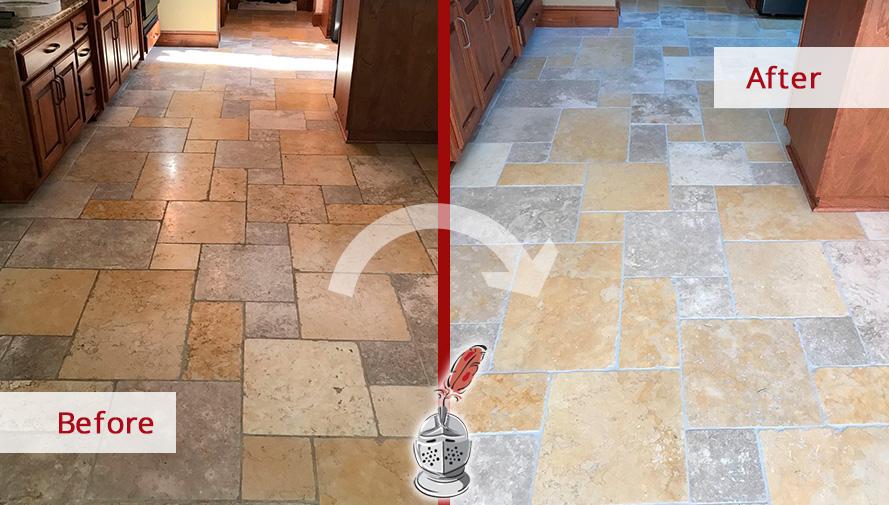 pet owner s travertine floor