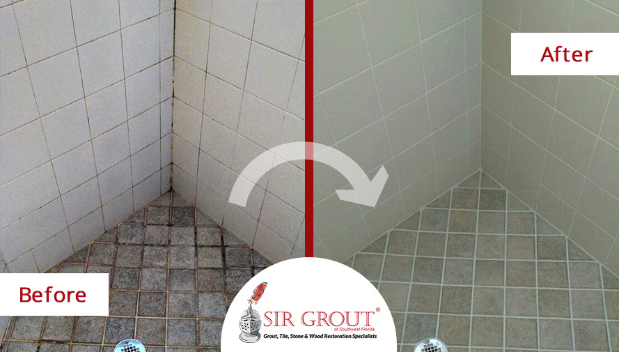 this tile shower in fort myers fl was