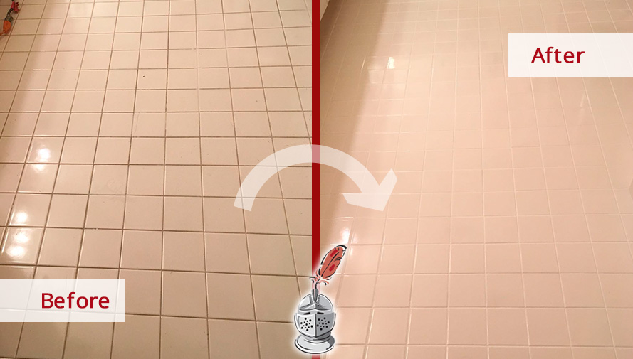 a professional grout cleaning job in