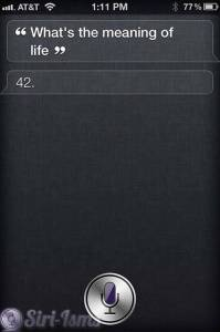 What Is The Meaning Of Life? Siri Like Hitchhikers Guide To The Galaxy