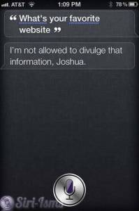 What's Your Favorite Website Siri?