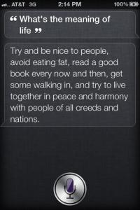 Siri Waxes Philosophically