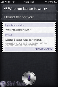 Who Run Barter Town? - Siri Quotes