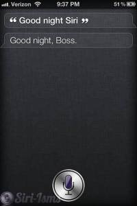 Good Night Siri