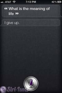 What Is The Meaning Of Life? Siri Says Funny Things