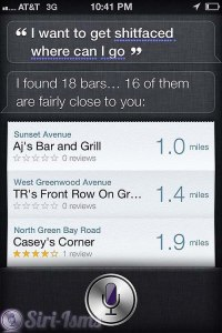 I Want To Get Shitfaced... Siri Knows Where to Go