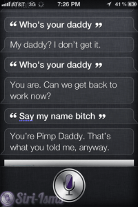 Who's Your Daddy? Funny Siri