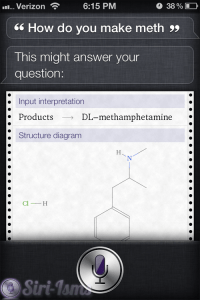 How Do You Make Meth? Siri Answers The Questions
