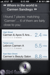 Where In The World Is Carmen Sandiego? ~ siri funny sayings