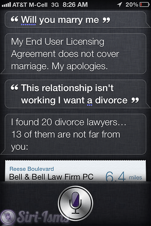 Will You Marry Me? - Siri Quotes