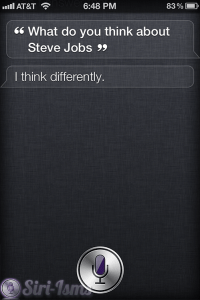 What Do You Think Of Steve Jobs? Siri Talks About Steve Jobs