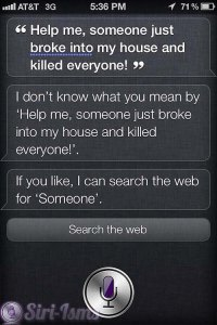 Help Me, Someone Just Broke Into My House and Killed Everyone - Siri Says