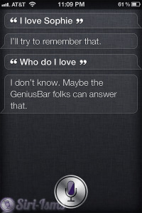 I Love Sophie - WHo Does Siri Love?