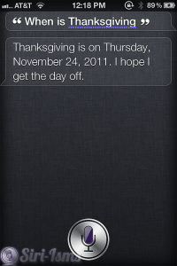 When Is Thanksgiving? - Siri Funny Sayings