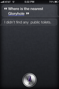Where Is The Nearest Glory Hole? - Siri Funny